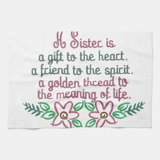金糸の姉妹 キッチンタオル