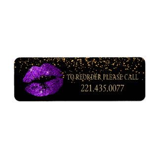 金紙吹雪及び紫色の唇2 -再命令して下さい 返信用宛名ラベル