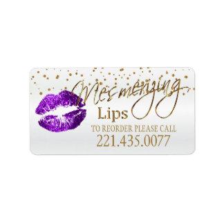 金紙吹雪及び紫色の唇-再命令して下さい 宛名ラベル
