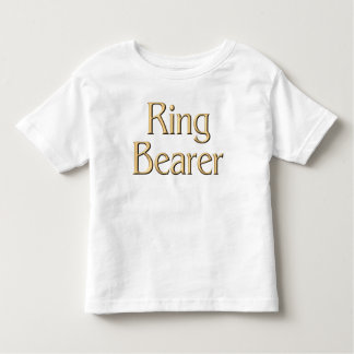 金結婚式で指輪を運んで来る人のTシャツ トドラーTシャツ