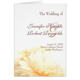 金結婚式プログラム グリーティングカード