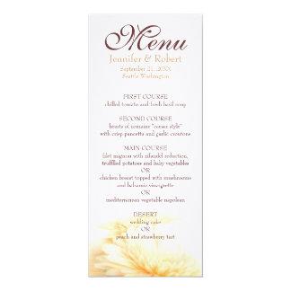 金結婚式メニュー カード
