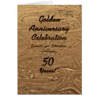金結婚記念日の招待状50年 カード