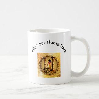金背景のAnubis コーヒーマグカップ