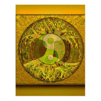 金色の陰陽 ポストカード