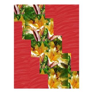 金花の低価格赤く膚触りがよい生地の一見の芸術 レターヘッド