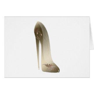 金花の小剣のハイヒールの靴の芸術 グリーティングカード