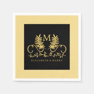 金花の紋章の結婚式 スタンダードカクテルナプキン