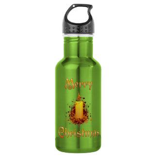 金花の蝋燭-メリークリスマス ウォーターボトル