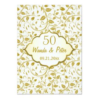 金葉第50の結婚記念日 11.4 X 15.9 インビテーションカード