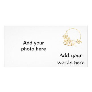 金蝶および花 カード