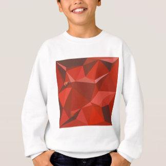 金褐色の赤の抽象芸術の低い多角形の背景 スウェットシャツ