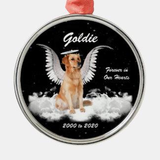 金記憶Gaurdianの天使犬 メタルオーナメント