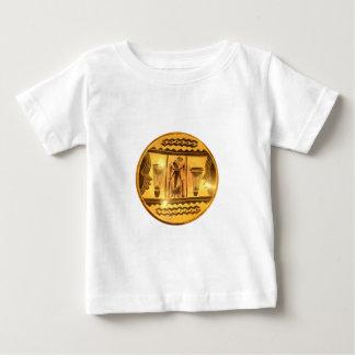 金赤いアフリカのドラマー ベビーTシャツ
