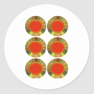 金赤い円: エネルギー治療の装飾的なギフト ラウンドシール