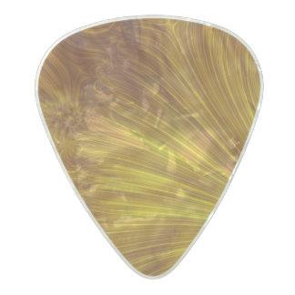 金軽いフラクタル パールセルロイド ギターピック