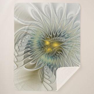 金銀製の花のファンタジーの抽象芸術のフラクタルの芸術 シェルパブランケット