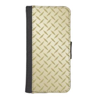金鋼鉄ダイヤモンドのプレートの電話ウォレットケース iPhoneSE/5/5sウォレットケース