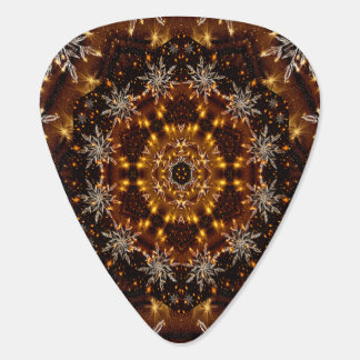 金雪片の万華鏡のように千変万化するパターン ギターピック