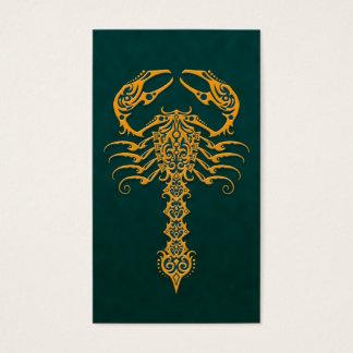 金青い種族の蠍 名刺