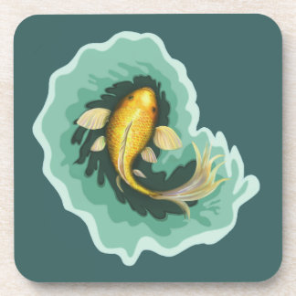 金魚のコイの芸術 コースター