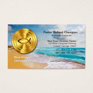 金魚のビーチのキリスト教の大臣か牧師 名刺