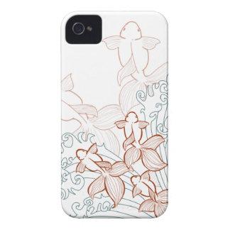 金魚のベクトルiPhoneの場合 Case-Mate iPhone 4 ケース