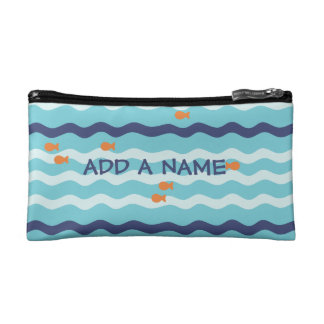 金魚の名前入りな筆箱 コスメティックバッグ