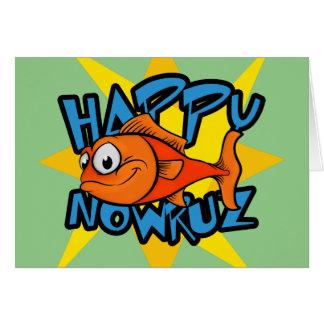 金魚の微笑の日曜日のペルシャの新年Nowruz カード