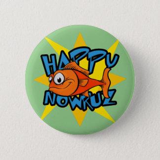 金魚の微笑の日曜日のペルシャの新年Nowruz 缶バッジ