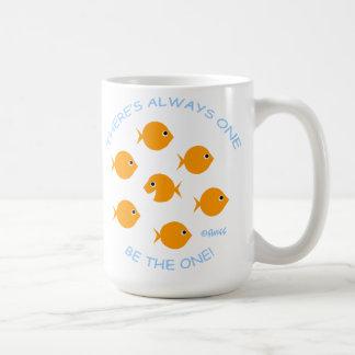 金魚の感動的な先生のモットーの学校 コーヒーマグカップ