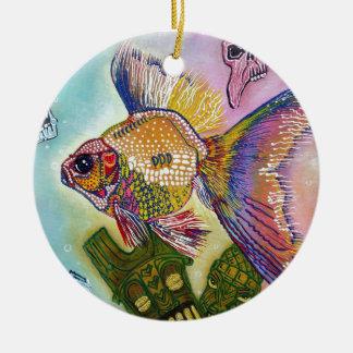 金魚の精神 セラミックオーナメント