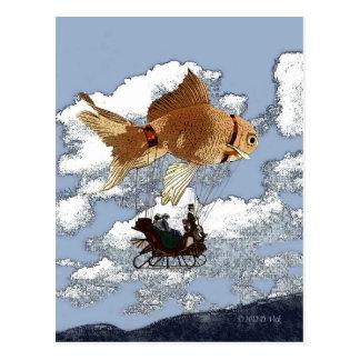 金魚の郵便はがき ポストカード