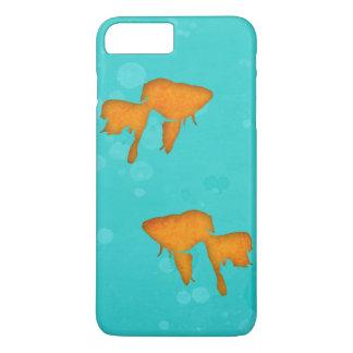 金魚はターコイズ水byEDrawings38のシルエットを描きます iPhone 8 Plus/7 Plusケース