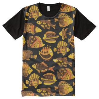 金魚 オールオーバープリントT シャツ