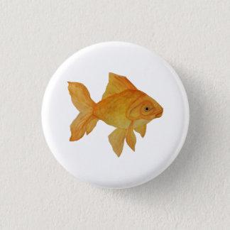 金魚 3.2CM 丸型バッジ