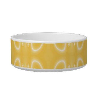 金黄色い色のエレガントな渦巻パターン ボウル