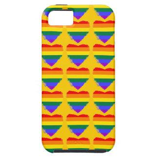 金黄色のカラフルな虹のハート iPhone SE/5/5s ケース