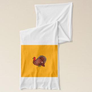 金黄色のトルコの側面のプロフィール スカーフ