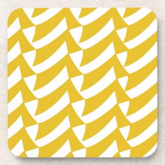 金黄色の点検 コースター