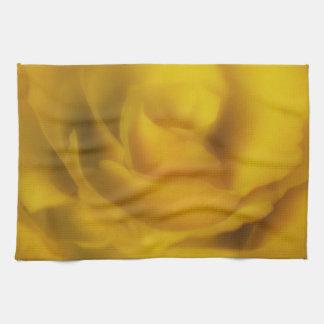 金黄色バラTeatowel キッチンタオル