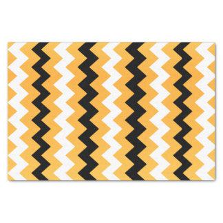 金黄色、白黒シェブロン 薄葉紙