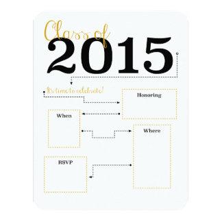 金2015年の卒業生の招待 10.8 X 14 インビテーションカード