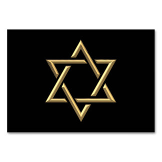 金3Dダビデの星 カード
