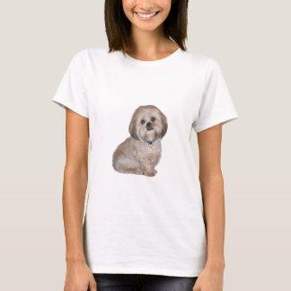 金/クリーム(a)ラサApso - Tシャツ