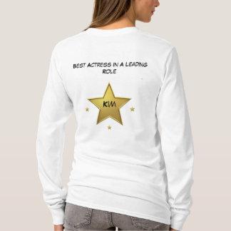 金: 最も最高のな女優によって合われるフード付きスウェットシャツ Tシャツ