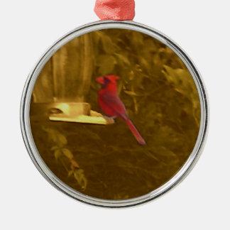 金(鳥)ショウジョウコウカンチョウ メタルオーナメント