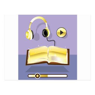 金Audiobookのベクトル芸術アイコン ポストカード