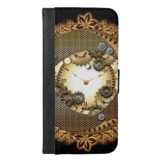 金colorsgのSteampunk、時計およびギア iPhone 6/6s Plus ウォレットケース