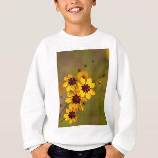 金Coreopsisのtinctoriaの野生の花 スウェットシャツ
